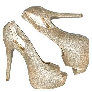 New Material girl sparkly heels